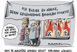Karikatur Schwarwel. Text Ilse Schnickenfittich