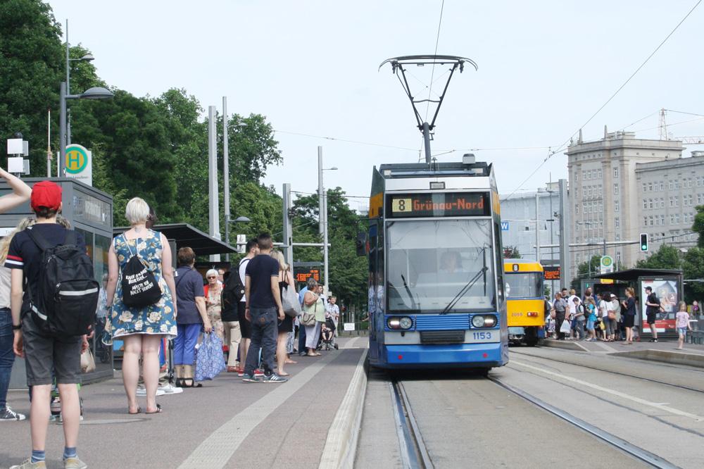 Haltestelle Wilhelm-Leuschner-Platz. Foto: Ralf Julke