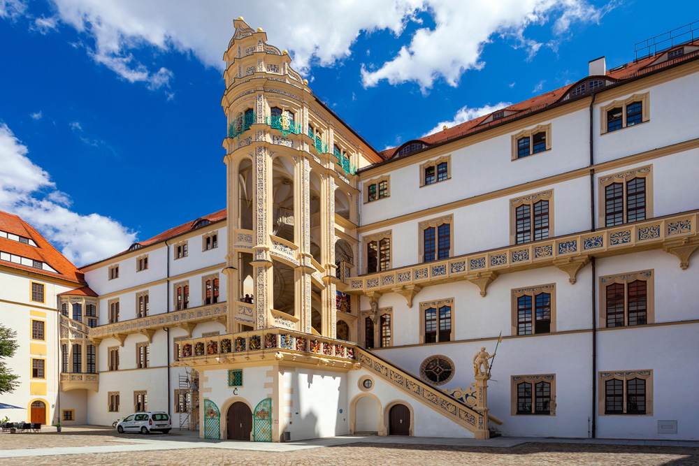 Schloss Hartenfels mit Wendelstein. Foto: Andreas Franke