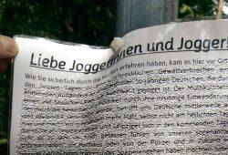"""Wenn eine rechtsextreme Partei die """"lieben Joggerinnen und Jogger"""" anspricht ... Foto: privat"""