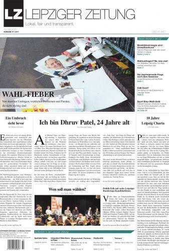 Die LEIPZIGER ZEITUNG Ausgabe 47. Foto: LZ-Titelblatt