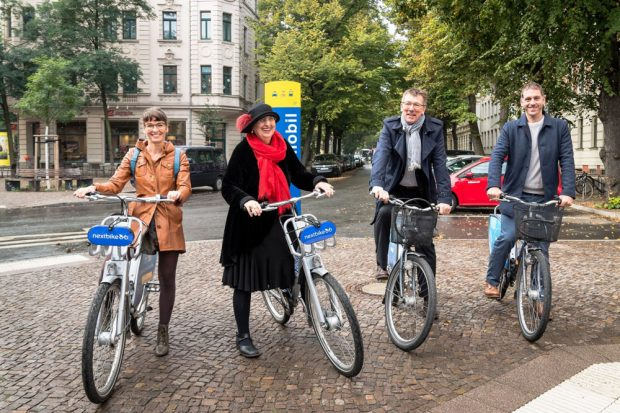 (v.l.n.r.): Mareike Rauchhaus, Dorothee Dubrau, Ulf Middelberg und Manuel Emmelmann. Foto: Roland Quester
