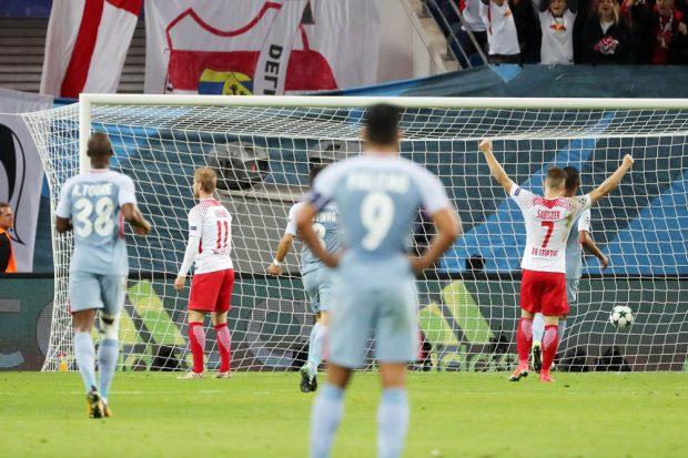 Emil Forsberg brachte sein Team in Führung, aber nur kurz. Foto: GEPA pictures/Sven Sonntag