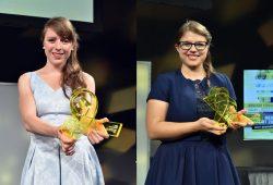 Die Preisträgerinnen Carolin Schramm (links) und Kristina Mohr (rechts). Foto: ARD/ZDF Förderpreis/Pflug