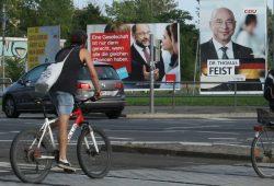 Wahlplakat mit Martin Schulz. Foto: Ralf Julke