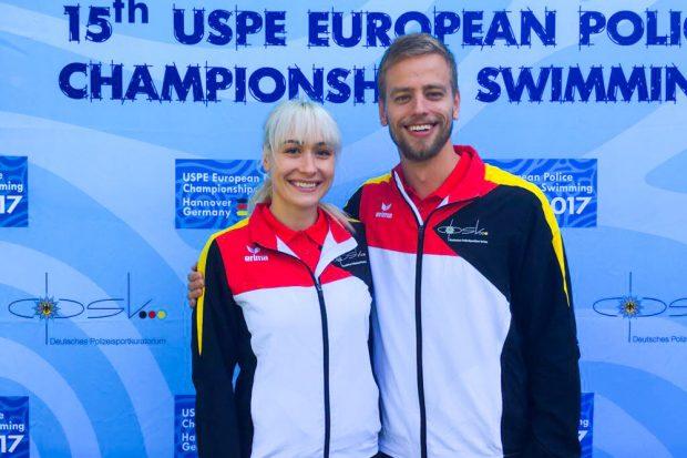 SSG-Schwimmer Juliane Reinhold und Tobias Horn. Foto: SSG