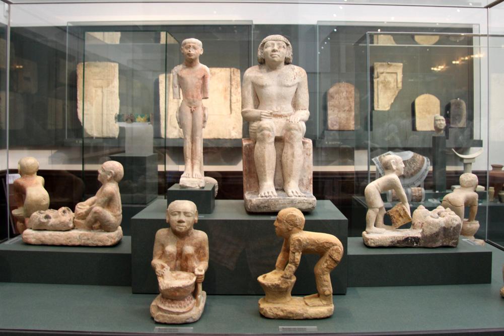 Blick ins Ägyptische Museum der Universität Leipzig. Foto: Matthias Weidemann