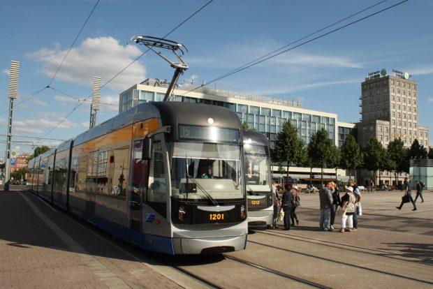 Transportmittel der Zukunft: Leipzigs Straßenbahn. Foto: Ralf Julke