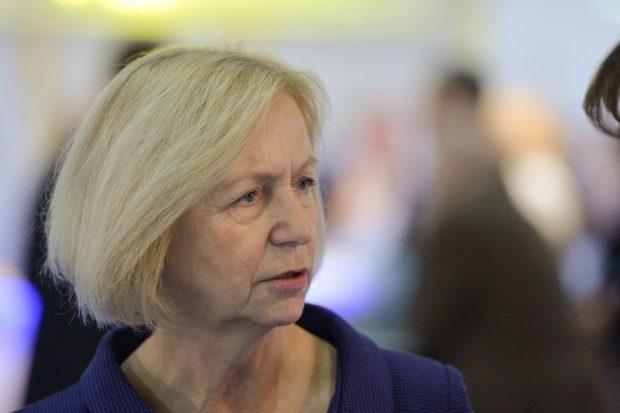 Bundesforschungsministerin Johanna Wanka. Quelle: Olaf Kosinsky, Skillshare.eu
