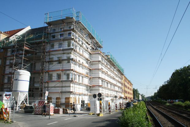 Wohnungsbau in Gohlis. Foto: Ralf Julke