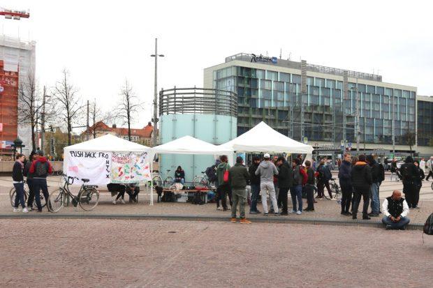 Der Anfang ist gemacht. Das Camp steht. Foto: L-IZ.de