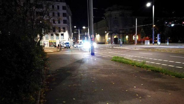 Absperrung am Peterssteinweg. Foto: Andreas Bernatschek