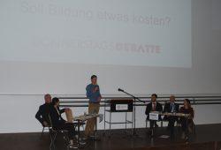 Debatte über Studiengebühren im Audimax der Uni Leipzig. Foto: René Loch