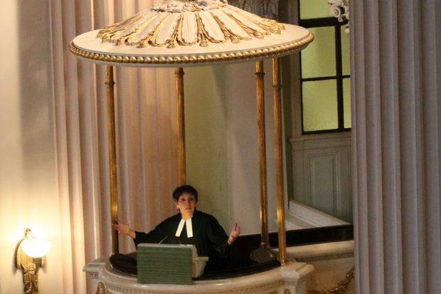 Margot Käßmann mit einer starken Predigt. Foto: L-IZ.de