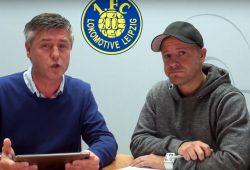 """Norman Landgraf und Martin Hoch beim """"Vorspiel"""". Screen Video Heimspiel TV"""