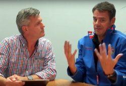"""Norman Landgraf und Roman Knoblauch beim """"Vorspiel"""". Foto: Screen Video Heimspiel TV"""