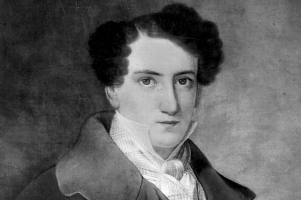 Anton Philipp Reclam (1807–1896) in jungen Jahren. Fotografie nach dem verschollenen Gemälde eines unbekannten Malers/einer unbekannten Malerin, um 1830. Foto: Reclam Verlag, Ditzingen