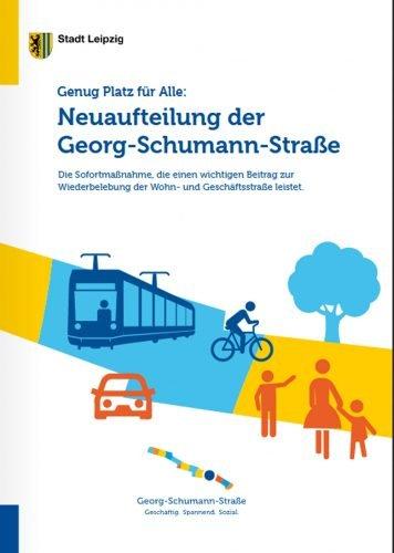 Die Broschüre zur Georg-Schumann-Straße. Cover: Stadt Leipzig
