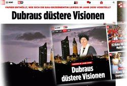 """""""Bild""""-Montagen mit """"düsteren Visionen"""". Screenshots: L-IZ"""