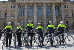 Fahrradstaffel der Leipziger Polizei. Foto: Martin Schöler