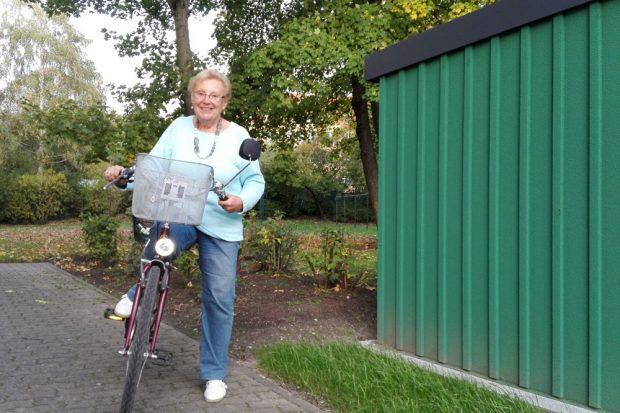 """Fahrrad- und Rollatorgaragen der WG """"Lipsia"""" eG werden immer stärker nachgefragt. Foto: Lipsia"""