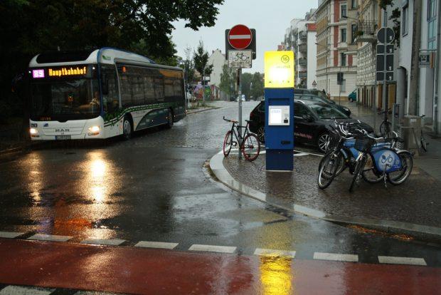 Mobilitätsstation in der Scheffelstraße. Foto: Ralf Julke