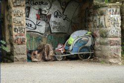 Wohnadresse: Parkhäuschen. Foto: Ralf Julke