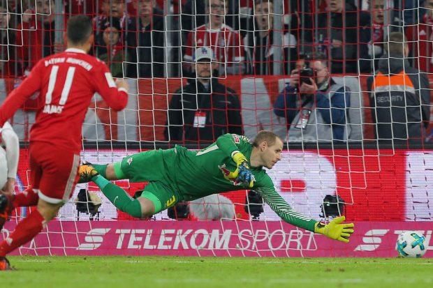 James erzielt den Führungstreffer für die Bayern. Foto: GEPA pictures/Thomas Bachun