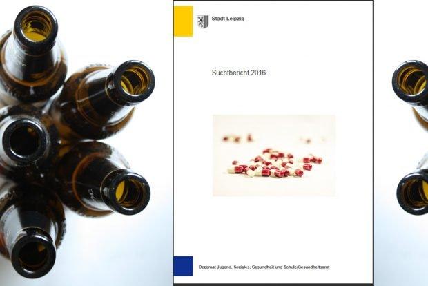 Suchtbericht 2017. Montage: L-IZ
