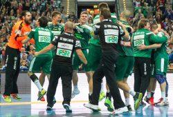Geschafft! Wie bereits im Pokal, blieb Leipzig gegen die MT Melsungen siegreich. Foto: Jan Kaefer