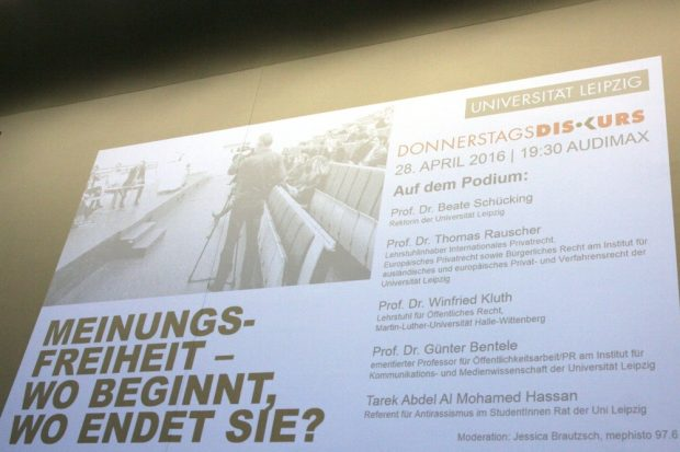 2016: Man diskutierte kaum über die Inhalte und die Hintergründe der Tweets, sondern blieb bei der Frage hängen, ob man sagen darf, was Rauscher sagt. Foto: L-IZ.de