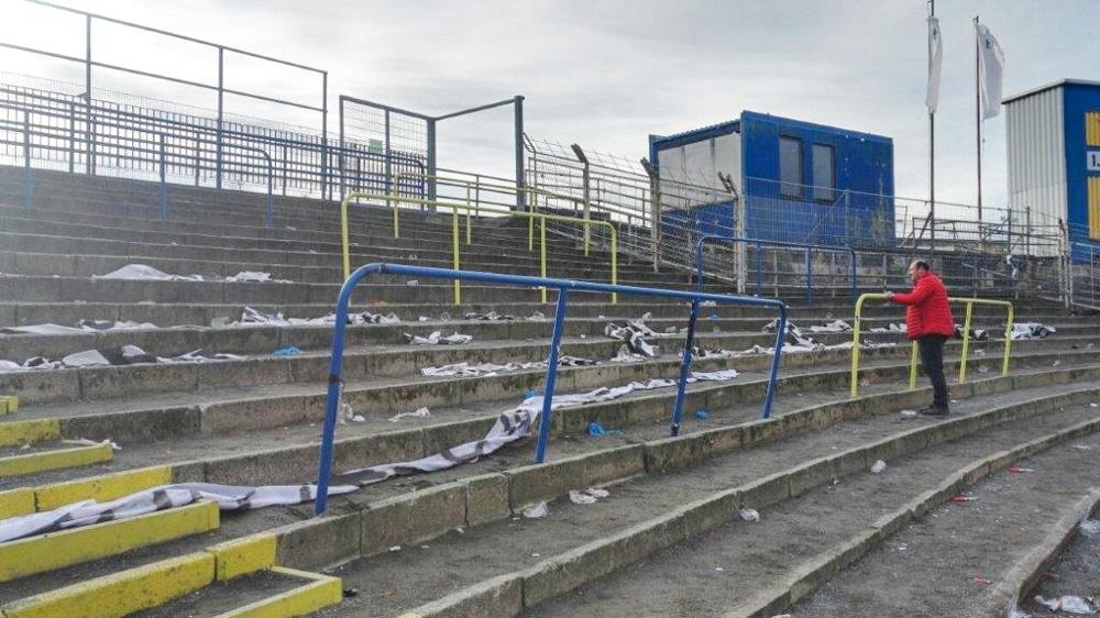 Nach dem Derby bot der Gästeblock ein trauriges Bild. Foto: privat