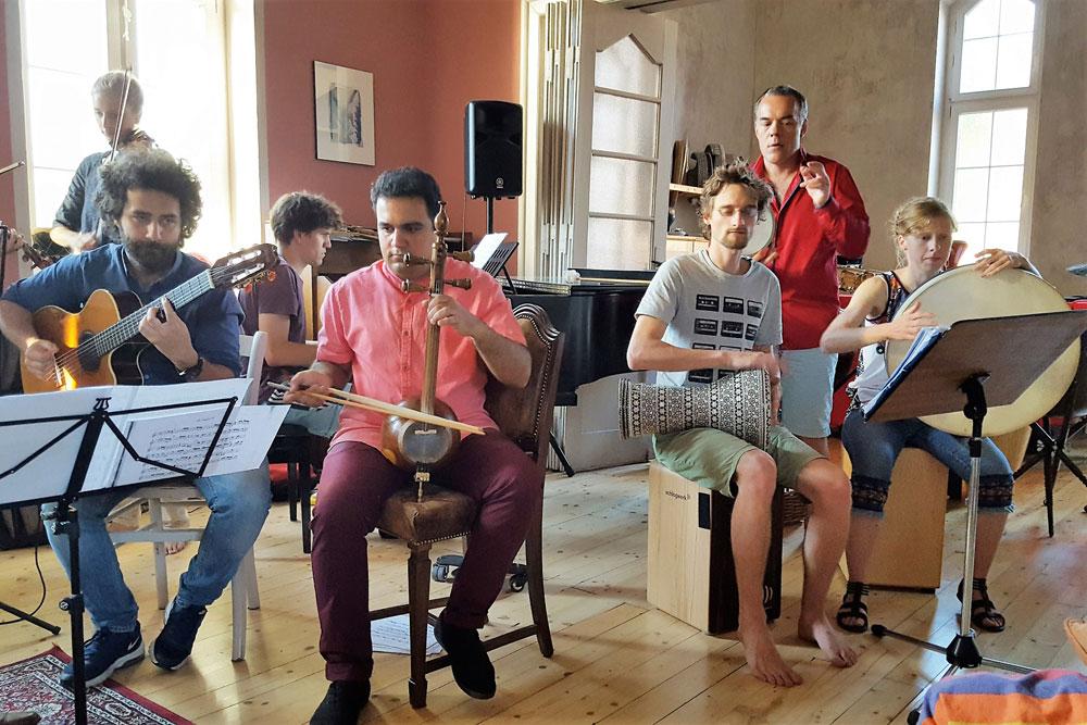 Leipziger Ensemble für außereuropäische Musik. Foto: Stiftung Friedliche Revolution
