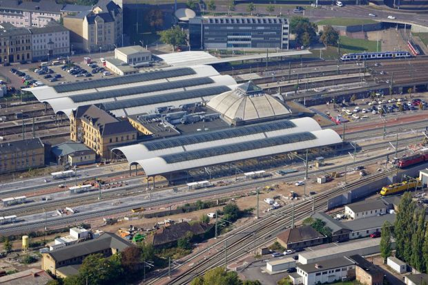 Ostseite Halle (Saale) Hauptbahnhof Foto: DB AG/Klaus Heinrich