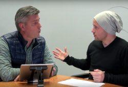 Norman Landgraf und Martin Hoch über das Thema Stock im Arsch und das Leipziger Derby. Foto: Videoscreen von Heimspiel TV