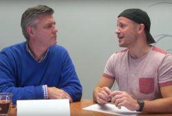 Norman Landgraf und Martin Hoch parlieren wieder über lokalen Sport in Leipzig. Foto: Screen Video Heimspiel TV