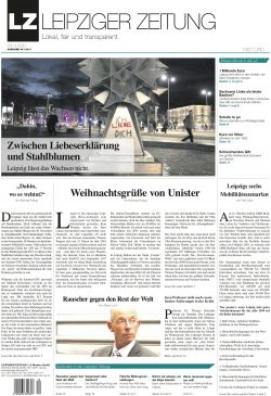 Das Titelblatt der Novemberausgabe der LEIPZIGER ZEITUNG. Screen PDF