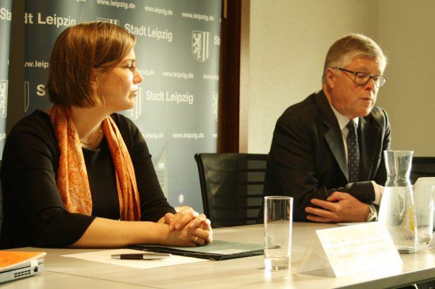 Dr. Skadi Jennicke und Peter Gartiser. Foto: Ralf Julke