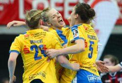 In der vorerst letzten Bundesliga-Saison des HC Leipzig wurde jeder Sieg ganz besonders gefeiert. Foto: Jan Kaefer