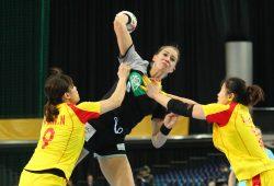 Emily Bölk war mit ihren vier Treffern die erfolgreichste Werferin der Partie. Foto: Jan Kaefer