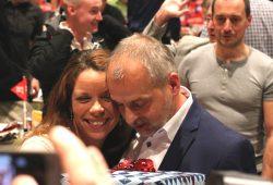 Antje Feiks und Rico Gebhardt nach der Wahl zur Landesvorsitzenden am 4. November 2017. Foto: L-IZ.de