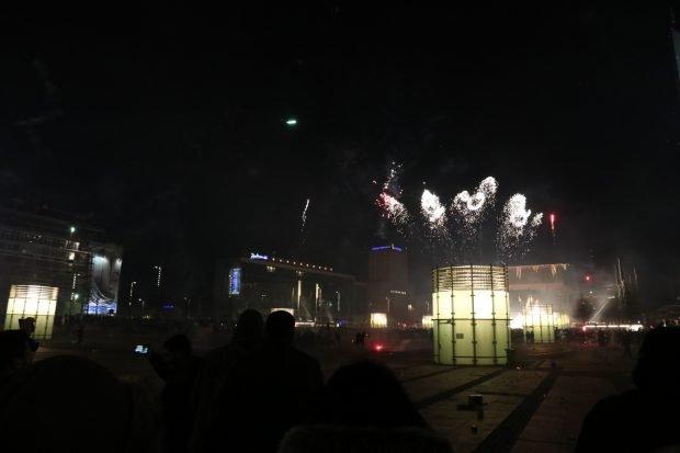 Am Augustusplatz stieg die Hauptböllerei des Abends. Foto: L-IZ.de