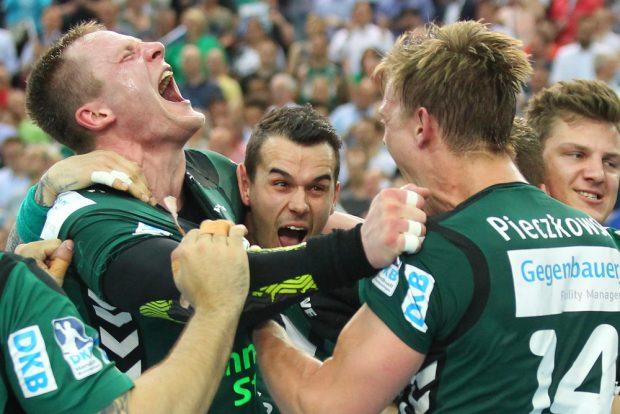 Die Leipziger DHfK-Handballer setzten mit ihrem hohen Sieg gegen Kiel ein dickes Ausrufezeichen. Foto: Jan Kaefer