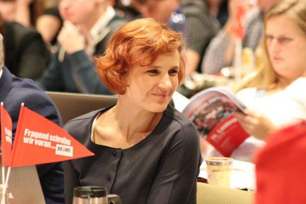 Ebenfalls dabei, als am 4. November über Bundes- und Landtagswahlen debattiert wurde: Bundesvorsitzende der Linkspartei, Katja Kipping. Foto: L-IZ.de