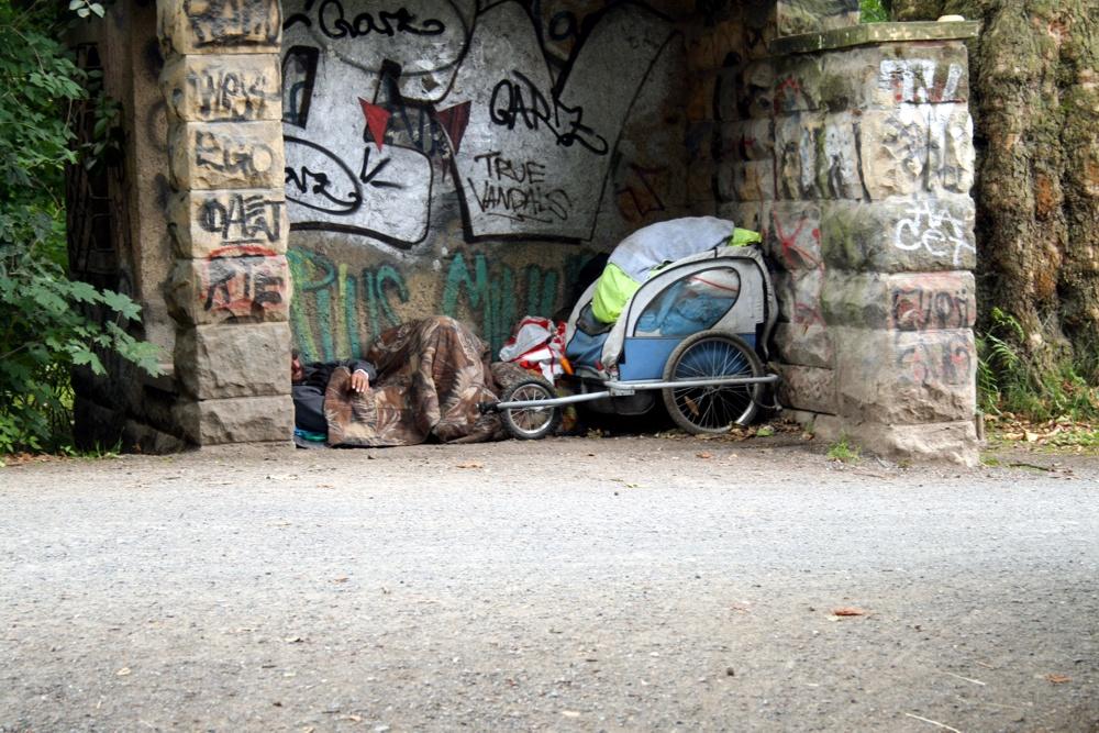 Ungewollte Obdachlosigkeit in Leipzig. Foto: Ralf Julke