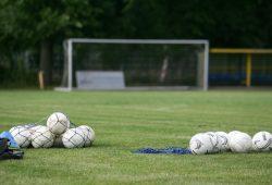 Die Bälle liegen zum Training bereit. Bald soll es auf Kunstrasen zum Training in Probstheida gehen. Foto: Jan Kaefer (Archiv)