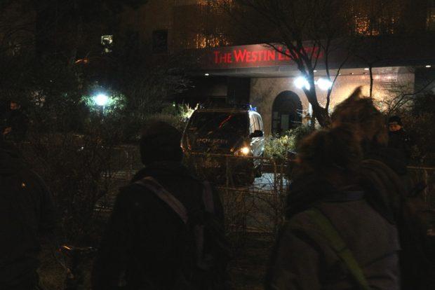 The Westin - schwer bewachte Herberge zur Nacht für die Innenminister. Foto: L-IZ.de