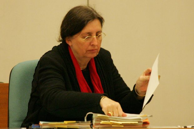 Dorothee Dubrau im Leipziger Stadtrat. Foto: L-IZ