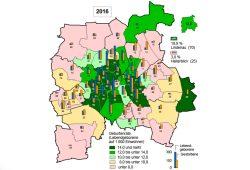Geburtenraten in Leipzig 2016. Grafik: Stadt Leipzig, Amt für Statistik und Wahlen