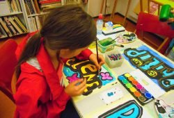 Graffiti-Kurs. Foto: Antje Olowaili
